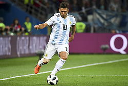 June 21, 2018 - Nizhny Novogorod, Russia - Eduardo Salvio of Argentina pictured in action during the FIFA World Cup Group D match between Argentina and Croatia at Nizhny Novogorod Stadium in Nizhny Novogorod, Russia on June 21, 2018  (Credit Image: © Andrew Surma/NurPhoto via ZUMA Press)