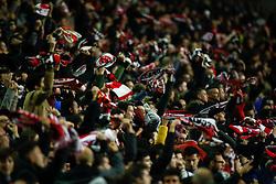 November 3, 2018 - Madrid, MADRID, SPAIN - Fans of Rayo during the Spanish Championship, La Liga, football match between Rayo Vallecano and FC Barcelona on November 03th, 2018 at Estadio de Vallecas in Madrid, Spain. (Credit Image: © AFP7 via ZUMA Wire)