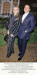 The HON.SIR ROCCO & LADY FORTE at a dinner in London on 19th May 2003.PJS 221