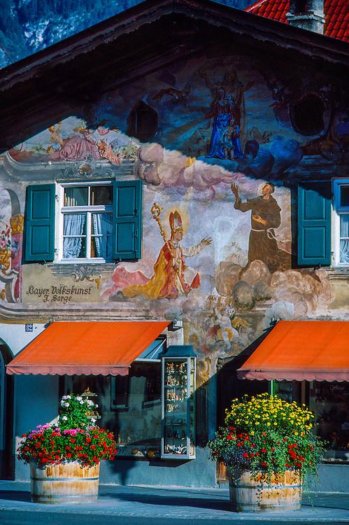 Bavarian building facade, Garmisch-Partenkirchen, Germany