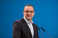 09 DEC 2014, KOELN/GERMANY:<br /> Jens Spahn, MdB, CDU, Gesundheitspolitischer Sprecher der CDU/CSU Bundestagsfraktion, haelt eine Rede, CDU Bundesparteitag, Messe Koeln<br /> IMAGE: 20141209-01-139<br /> KEYWORDS: Party Congress