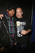 l to r: Balawa Mason and Carauso at The Sony HipHop Live Tour featuring Talib Kweli and David Banner held at The Nokia Theater on October 25, 2008 in NYC