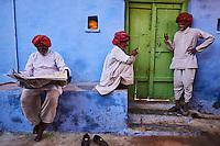 Inde, Rajasthan, Jodhpur la ville bleue, scene de rue // India, Rajasthan, Jodhpur, the blue city, street life