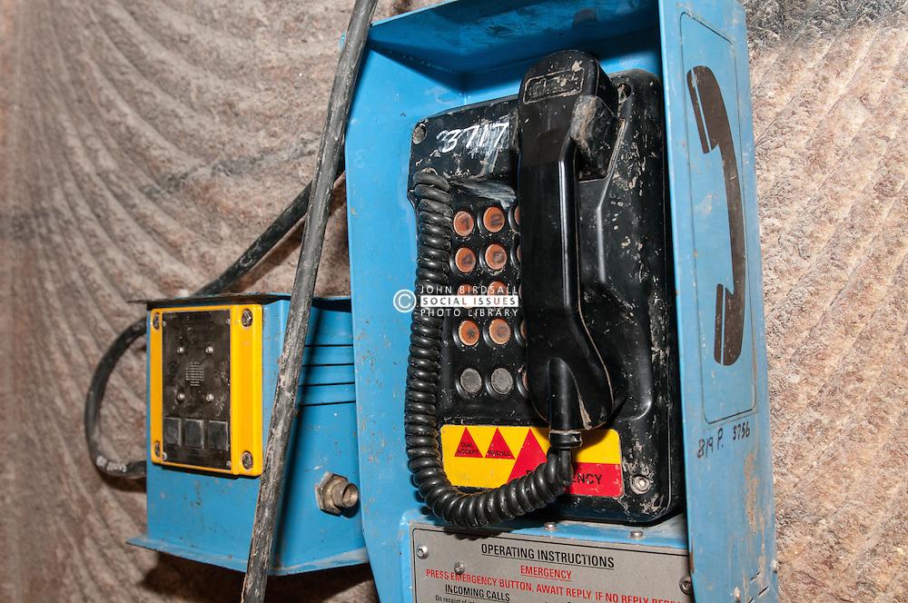 Emergency telephone Boulby Potash mine