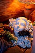 Bust of Dionysus in the Great Room, Fitzpatrick Winery & Lodge, Fair Play, El Dorado County, California