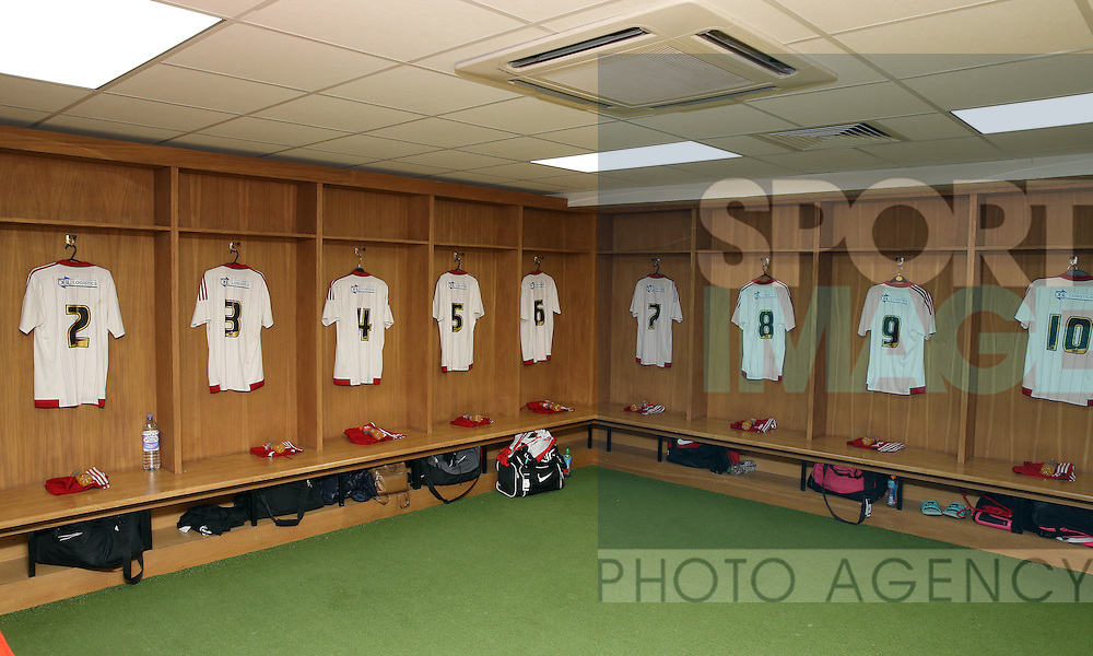 Sheffield United Ladies shirts hang up in the dressing room before kick off during the FA Women's Cup First Round match at Bramall Lane Stadium, Sheffield. Picture date: December 4th, 2016. Pic Clint Hughes/Sportimage