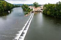 France, Cahors. River Lot from Pont Valentré.