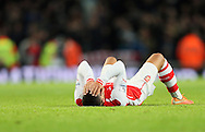 Arsenal's Alex Oxlade-Chamberlain looks on dejected at the final whistle<br /> <br /> Barclays Premier League- Arsenal vs Manchester United - Emirates Stadium - England - 22nd November 2014 - Picture David Klein/Sportimage