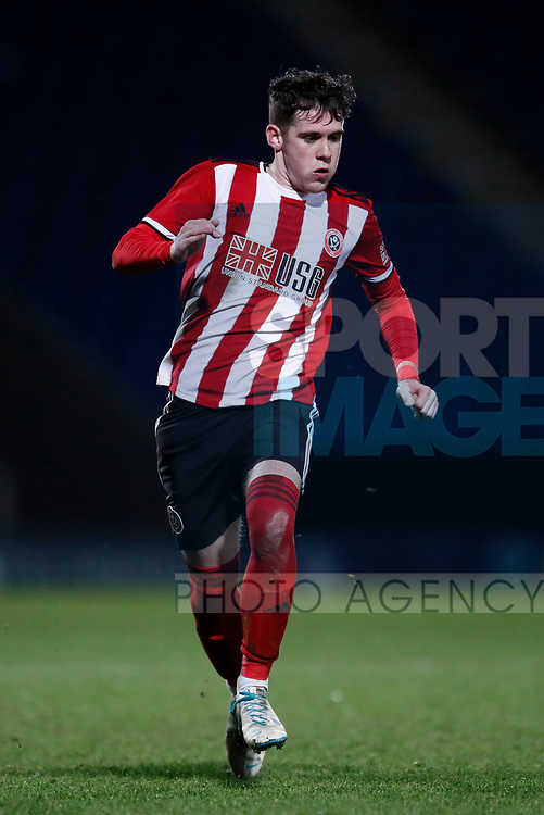 Tom Williams of Sheffield Utd during the Professional Development League  match at the Proact Stadium, Chesterfield. Picture date: 3rd February 2020. Picture credit should read: Simon Bellis/Sportimage