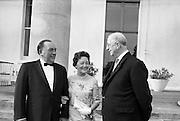 Mayor and Mrs J. Daley of Chicago at Áras an Uachtaráin with President Eamon de Valera..16.05.1964