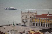 Terreiro do Paço, also know as Praça do Comércio (Commerce Square) seen from Saint George Castle, in Lisbon.