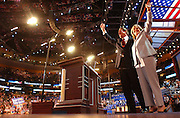Al Gore and his wife Tipper are seen at the Democratic National Committee Convention at the Fleet Center in Boston, MA. 7/26/2004