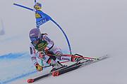SOELDEN, AUSTRIA. OCTOBER 17 2020:  1st Women's Giant Slalom as part of the Alpine Ski World Cup in Solden on October 17, 2020; Run 1, Tessa Worley (FRA) ( Pierre Teyssot/ESPA Images-Image of Sport)