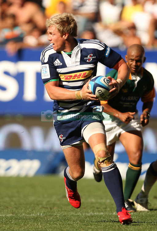 Jean de Villiers of the Stormers during the Super Rugby (Super 15) fixture between DHL Stormers and the The Force played at DHL Newlands in Cape Town, South Africa on 26 March 2011. Photo by Jacques Rossouw/SPORTZPICS