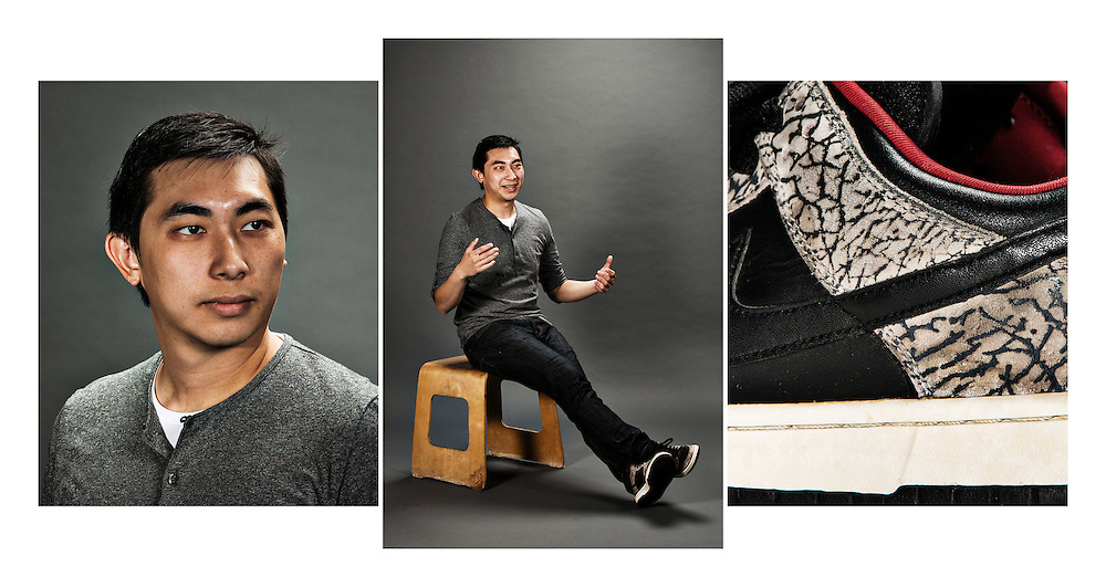 """Name: Eric Lam<br /> Profession: Instructional Assistant, AdvancePath Academy - New San Juan High School<br /> Shoe size: 9<br /> Official name of favorite sneakers: Nike Dunk Low SB """"Supremes"""" - Black/Red<br /> Why are these your favorite:<br /> They are the reason I started to collect and what drew me into them was not only the details and colors of shoes, but their history and relationship to our culture.<br /> Official name of favorites sneakers you don't own:<br /> Air Jordan III - Black/Cement<br /> What got you into the game:<br /> Niketalk allowed me to share my passion of sneakers with others. Meeting other people with like-minded interests helped me develop my knowledge and love for the culture.<br /> How long have you been in the game: Over 10 years."""