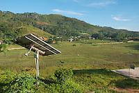 Solar panel at St. Bakhita Mission, near the village of Eraulo in the Ermera District of Timor-Leste (East Timor)..