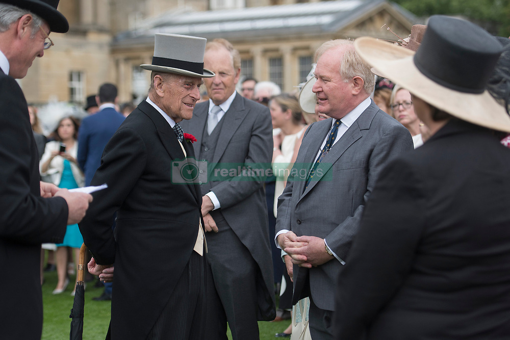 May 16, 2017 - London, London, United Kingdom - Image ©Licensed to i-Images Picture Agency. 16/05/2017. London, United Kingdom. The Duke of Edinburgh  at a Garden party at Buckingham Palace in London. Picture by ROTA  / i-Images UK OUT FOR 28 DAYS (Credit Image: © Rota/i-Images via ZUMA Press)