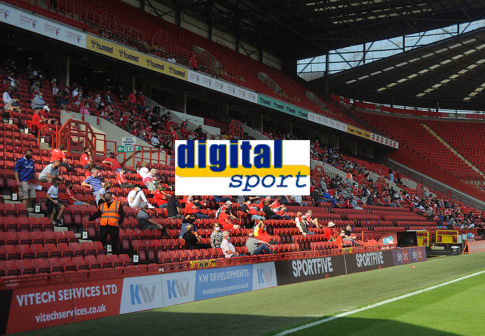 Football - 2020 / 2021 EFL Division One - Charlton Athletic vs Doncaster Rovers<br /> <br /> 1000 Charlton fans watch the match in segregation in the main stand, at the Valley<br /> <br /> COLORSPORT/ANDREW COWIE