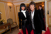 ANNA ARAUJO; ( AGE 26 )  RONNIE WOOD, The South Bank Sky Arts Awards , The Dorchester Hotel, Park Lane, London. January 25, 2011,-DO NOT ARCHIVE-© Copyright Photograph by Dafydd Jones. 248 Clapham Rd. London SW9 0PZ. Tel 0207 820 0771. www.dafjones.com.