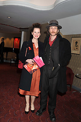 JOSIE WALKER and PAUL KAYE at the What's On Stage Awards 2012 held at the Prince of wales Theatre, London on 19th February 2012.