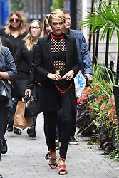Cara Delevingne promotes her film with Amber Heard at TIFF in Toronto. The model was seen posing for pictures as she left the Hollywood Reporter gift lounge in downtown Toronto. 09 Sep 2018 Pictured: Cara Delevingne. Photo credit: MEGA TheMegaAgency.com +1 888 505 6342