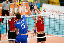 20170525 NED: 2018 FIVB Volleyball World Championship qualification, Koog aan de Zaan<br />Mihai Voleanschii (5) of Republic of Moldova, Vasile Talpa (13) of Republic of Moldova <br />©2017-FotoHoogendoorn.nl / Pim Waslander