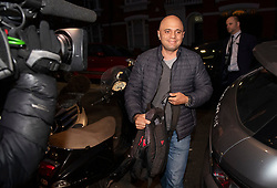 © Licensed to London News Pictures. 31/12/2018. London, UK. Home Secretary SAJID JAVID is seen arriving at his London home after returning home early form a family holiday to deal with the increased numbers of migrants crossing the English Channel from France. Photo credit: Ben Cawthra/LNP