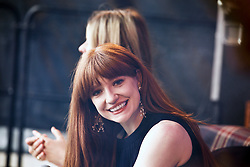 Girls Aloud singer Nicola Roberts judging the fashion prizes at Ladies Day at Musselburgh Races pic copyright Terry Murden @edinburghelitemedia