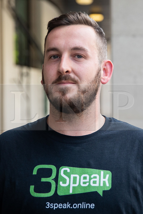 © Licensed to London News Pictures. 22/07/2019. London, UK. Pro-Brexit activist and yellow vest demonstrator James Goddard arrives at Westminster Magistrates' Court where he will be sentenced, after admitting to harassing pro-remain MP Anna Soubry by calling her a 'Nazi'. Photo credit : Tom Nicholson/LNP