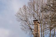 Terme del Corallo or Acque della salute. Top of the ticket office obelisk