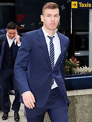 Manchester City's Edin Dzeko arrives at Manchester Airport to board the team flight to Barcelona ahead of the UEFA Champions League second leg match against Barcelona - Photo mandatory by-line: Matt McNulty/JMP - Mobile: 07966 386802 - 17/03/2015 - SPORT - Football - Manchester - Manchester Airport - Barcelona v Manchester City - UEFA Champions League