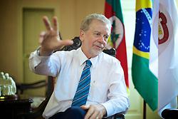 José Fortunati durante entrevista em seu gabinete, na Prefeitura de Porto Alegre. FOTO: Jefferson Bernardes/Preview.com