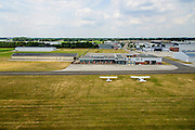 Nederland, Noord-Brabant, Gemeente Cranendonck, 26-06-2014; Kempen Airport of Luchthaven Budel.<br /> luchtfoto (toeslag op standaard tarieven);<br /> aerial photo (additional fee required);<br /> copyright foto/photo Siebe Swart.