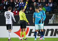 TRONDHEIM, NORWAY - NOVEMBER 02, 2017. UEFA Europa League, round 4: Rosenborg BK (Norway) 1-1 Zenit St Petersburg (Russia). Rosenborg's Anders Trondsen (L) and Zenit St Petersburg's Leandro Paredes (L).