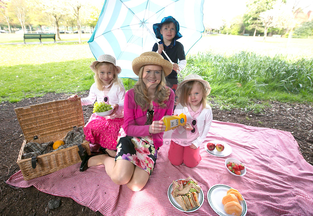 Irish Cancer Society launches 2015 SunSmart Campaign<br />  Tuesday, 28th of April 2015: Pictured were RTÉ's Nuala Carey and the SunSmart Kids Alexandra  (age 6), Luke (Age 5) and Eve O'Donnell (Age 4) from Rathgar, Dublin at the launch of the Irish Cancer Society's 2015 SunSmart campaign which will run throughout the summer. The Society is highlighting that ultraviolet (UV) levels across Ireland were high enough to cause skin damage on almost 90 per cent of the days between April and September last year. Most cases of skin cancer area caused by UV radiation which comes from the sun. The Society is encouraging the public to follow the steps of the SunSmart Code for the best protection, which includes checking the Society's UV Index daily to find out how high UV levels are in their area.<br /> The SunSmart Code<br /> •SEEK SHADE: when UV rays are at their strongest – between 11am and 3pm.<br /> •COVER UP: by wearing a shirt with a collar and long shorts.  Also wear a hat that gives shade to your face, neck and ears.<br /> •WEAR WRAPAROUND SUNGLASSES: make sure they give UV protection. <br /> •SLOP ON SUNSCREEN: Use sunscreen with SPF 15 (SPF30 for children) or higher and UVA protection 20 minutes before going outside and re-apply every two hours – more often if swimming or perspiring.<br /> •CHECK the UV index – www.cancer.ie/uvindex<br /> •Keep babies under six months out of the sun. <br /> <br /> ENDS<br /> <br /> For Press Information:<br /> Irish Cancer Society <br /> Communications <br /> Aishling  Deegan: Tel 01 231 0517 / 087 645 3867<br /> Órla Sheils: Tel: 01 231 0559 / 087 97 07709