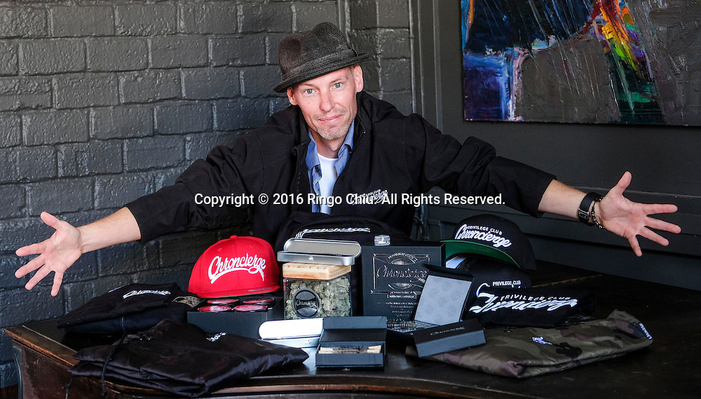 Jud Nester of Chroncierge, a members-only marijuana company with an emphasis on branding and lifestyle.(Photo by Ringo Chiu/PHOTOFORMULA.com)<br /> <br /> Usage Notes: This content is intended for editorial use only. For other uses, additional clearances may be required.