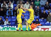 Photo: Rich Eaton.<br /> <br /> Birmingham City v Preston North End. Coca Cola Championship. 09/12/2006. Brett Ormerod right of Preston is congratulated by Paul McKenna after scoring a goal to peg the score back to 2-1 to Birmingham