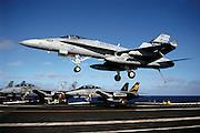 F/A-18 Hornet carrier trap