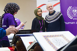 """Finsbury Park Mosque, London, February 7th 2016. Local MP and Labour Leader Jeremy Corbyn visits Finsbury Park Mosque as part of a Visit My Mosque initiative by the Muslim Council of Britain to show non-Muslims """"how Muslims connect to God, connect to communities and to neighbours around them"""".<br />  ///FOR LICENCING CONTACT: paul@pauldaveycreative.co.uk TEL:+44 (0) 7966 016 296 or +44 (0) 20 8969 6875. ©2015 Paul R Davey. All rights reserved."""