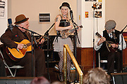 Famed cartoonist Robert Crumb with the East River String Band at the Society of Illustrators, NYC 3/26/2011.