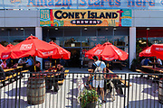 The craft brewery and beer garden of Coney Island Brewery, in Maimonides Park, home of the Brooklyn Cyclones baseball team.