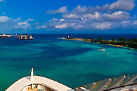 Arriving in Nassau, The Bahamas aboard the new Disney Dream cruise ship.