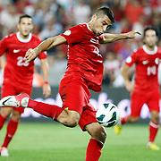 Turkey's Burak Yilmaz during their FIFA World Cup 2014 qualifying soccer match Turkey betwen Estonia at Sukru Saracoglu stadium in Istanbul September 11, 2012. Photo by TURKPIX