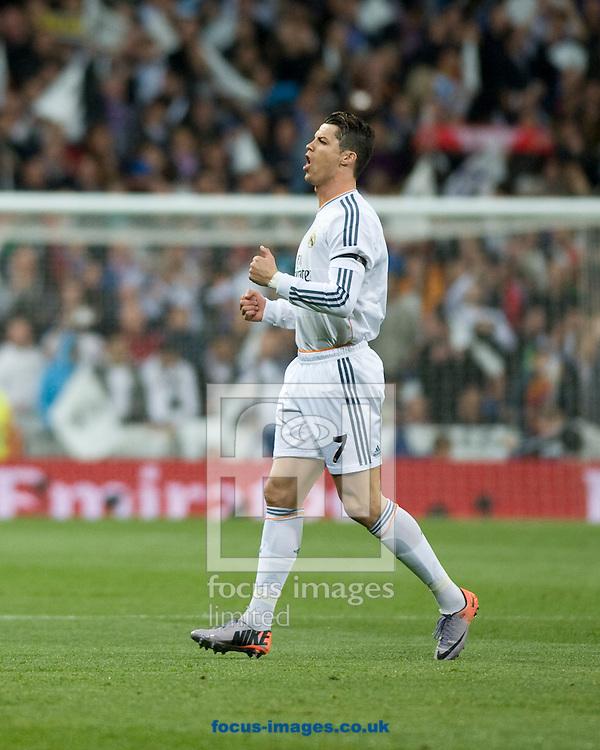 Cristiano Ronaldo of Real Madrid  during the La Liga match at the Estadio Santiago Bernabeu, Madrid<br /> Picture by Marcos Calvo Mesa/Focus Images Ltd +34 654142934<br /> 23/03/2014
