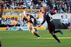 15.10.2011,  BorussiaPark, Mönchengladbach, GER, 1.FBL, Borussia Mönchengladbach vs Bayer 04 Leverkusen, im Bild.Torjubel / Jubel  nach dem 2:2 durch Andre Schürrle (Leverkusen #9) (R) mit Hanno Balitsch (Leverkusen #14) (L) ..// during the 1.FBL, Borussia Mönchengladbach vs Bayer 04 Leverkusen on 2011/10/13, BorussiaPark, Mönchengladbach, Germany. EXPA Pictures © 2011, PhotoCredit: EXPA/ nph/  Mueller *** Local Caption ***       ****** out of GER / CRO  / BEL ******