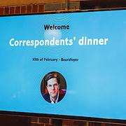 NLD/Amsterdam/20160210 - gasten arriveren bij Correspondents' Dinner 2016,