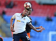 Reece Brown of Sheffield Utd and Gary Madine of Bolton during the FA Cup Second round match at the Macron Stadium, Bolton. Picture date: December 4th, 2016. Pic Simon Bellis/Sportimage