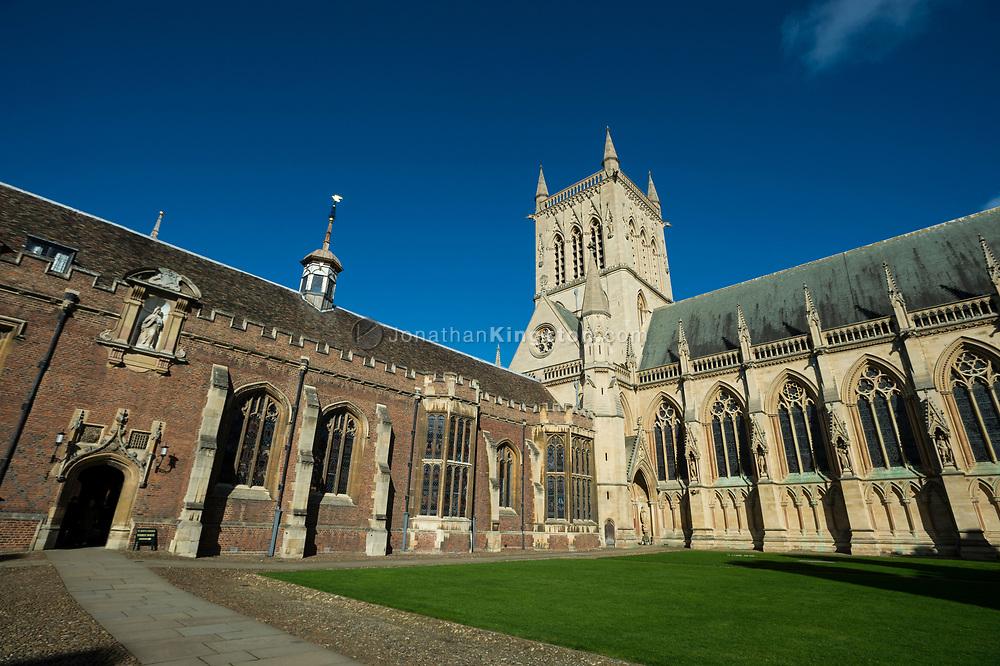 St. Johns college chapel, Cambridge, England.