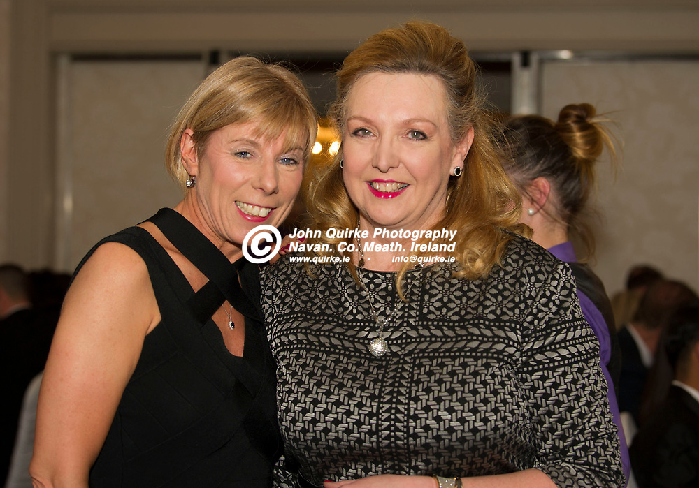 24-11-18. Meath Business and Tourism Awards 2018 at the Newgrange Hotel, Navan.<br /> Ursela Halton(Left), Royal Meath Show and Yvette Bloomfield, Pressure Hands.<br /> Photo: John Quirke / www.quirke.ie<br /> ©John Quirke Photography, Unit 17, Blackcastle Shopping Cte. Navan. Co. Meath. 046-9079044 / 087-2579454.