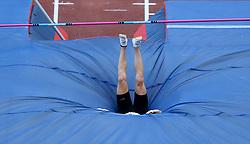 May 31, 2018 - Rome, Italy - Sam Hendricks (USA) competes in pole vault men during Golden Gala Iaaf Diamond League Rome 2018 at Olimpico Stadium in Rome, Italy on May 31, 2018. (Credit Image: © Matteo Ciambelli/NurPhoto via ZUMA Press)